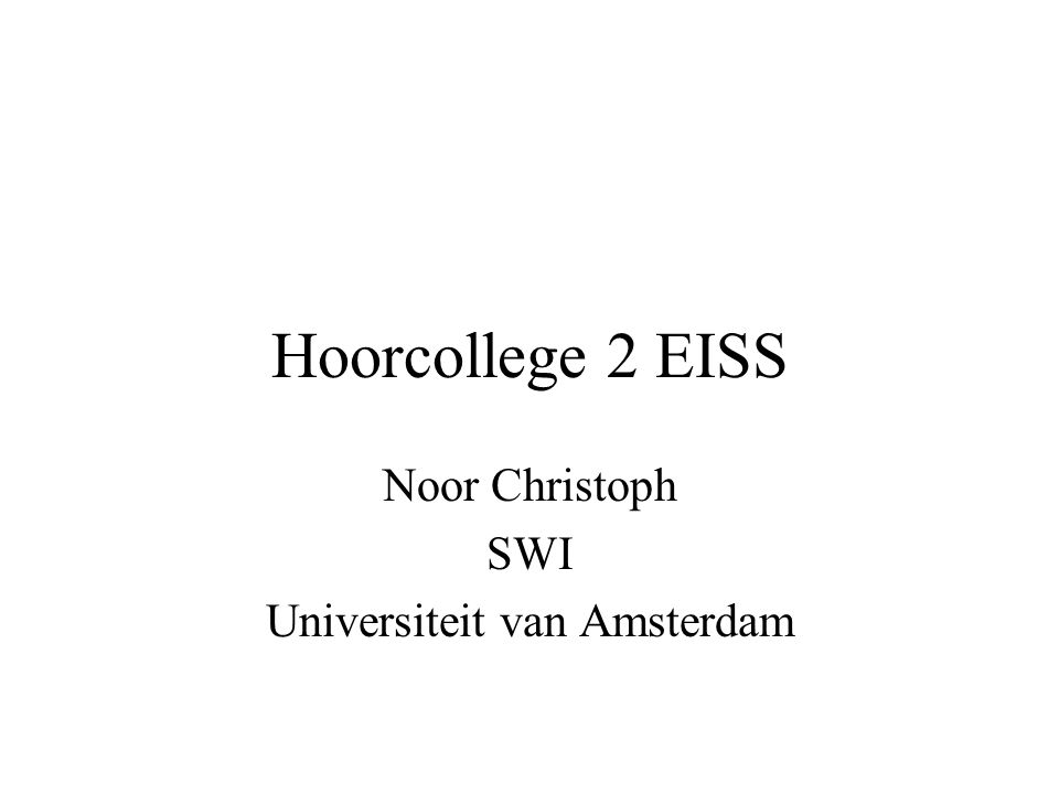 Noor Christoph SWI Universiteit van Amsterdam