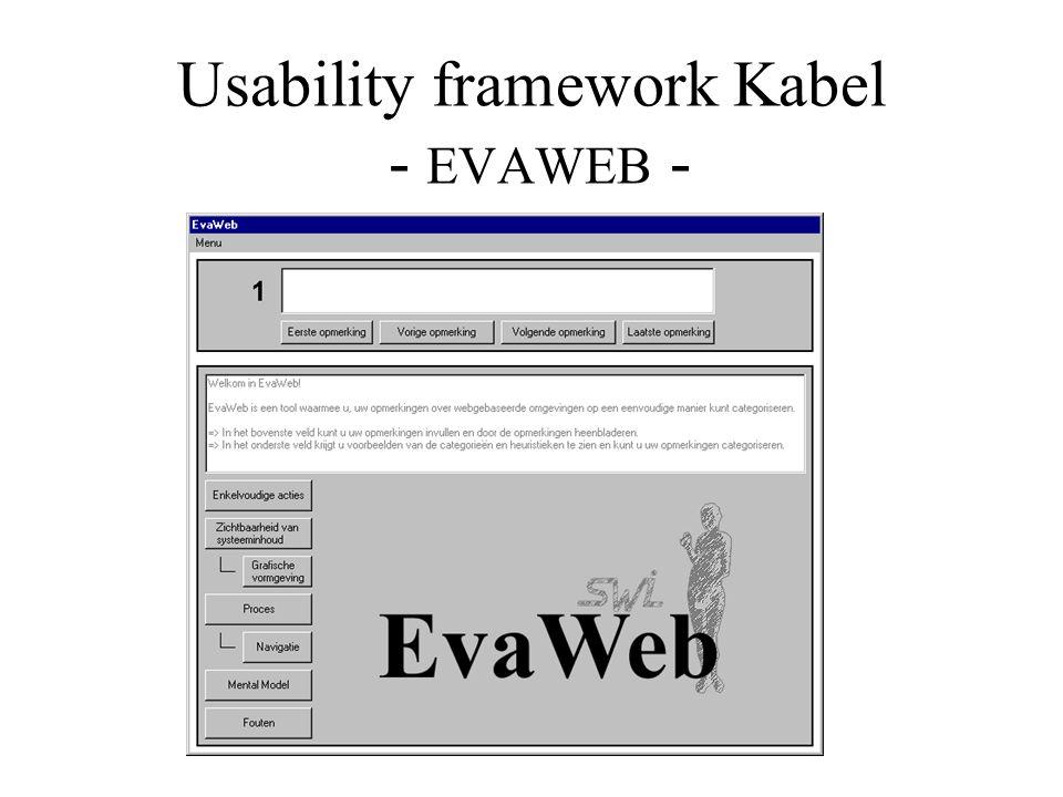 Usability framework Kabel - EVAWEB -