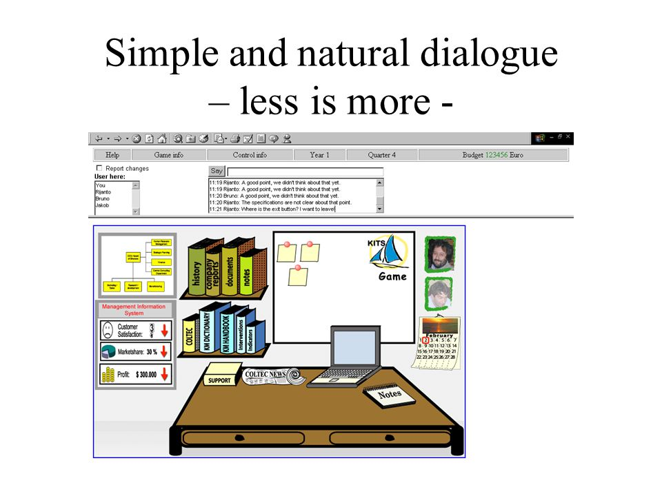 Simple and natural dialogue – less is more -