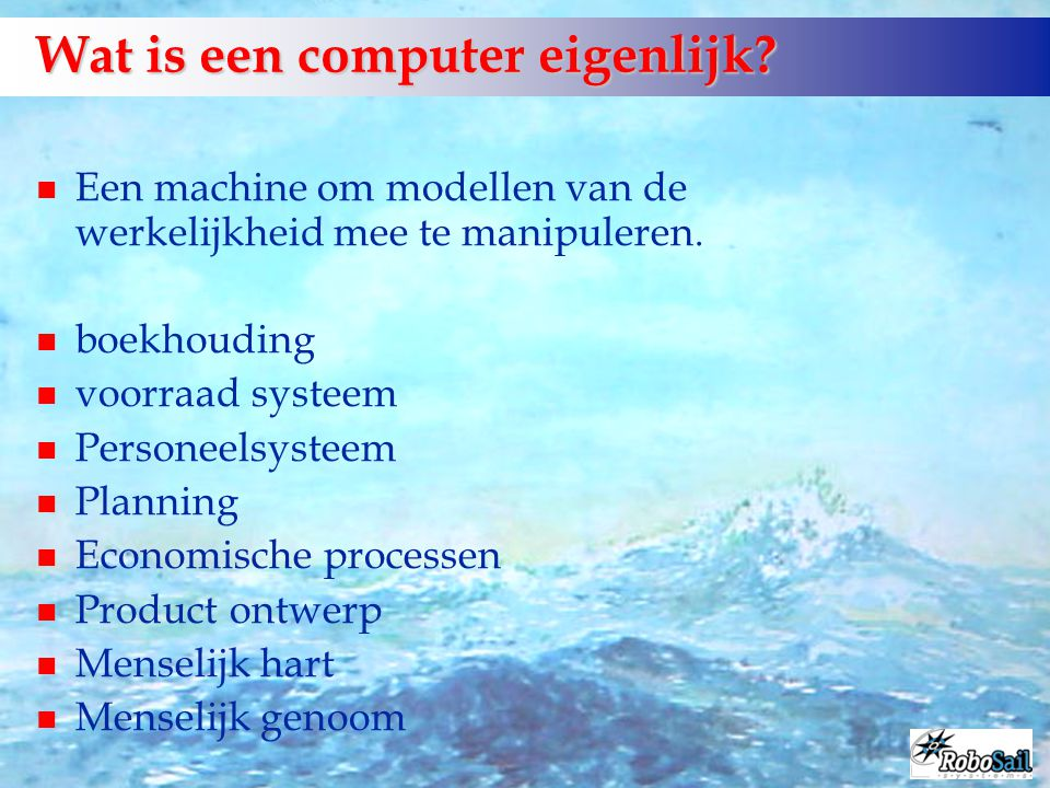 Wat is een computer eigenlijk
