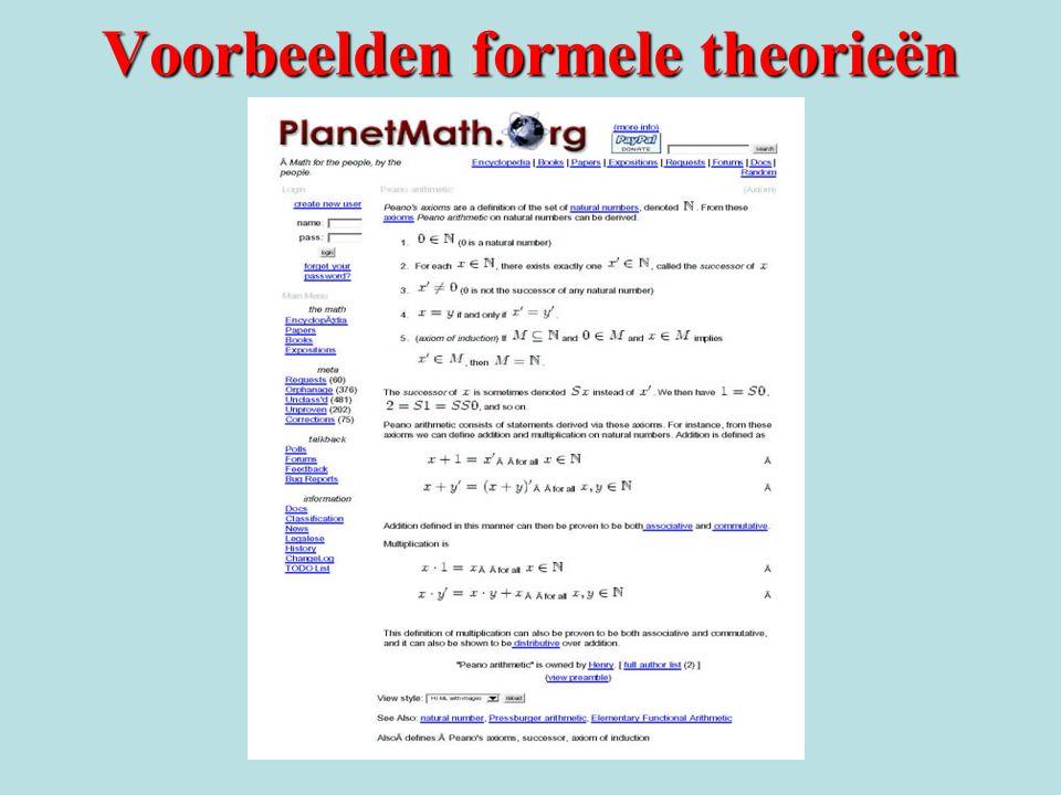 Voorbeelden formele theorieën