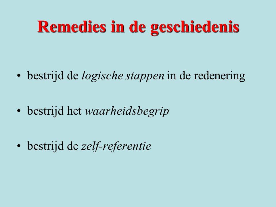 Remedies in de geschiedenis