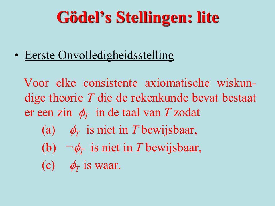 Gödel's Stellingen: lite