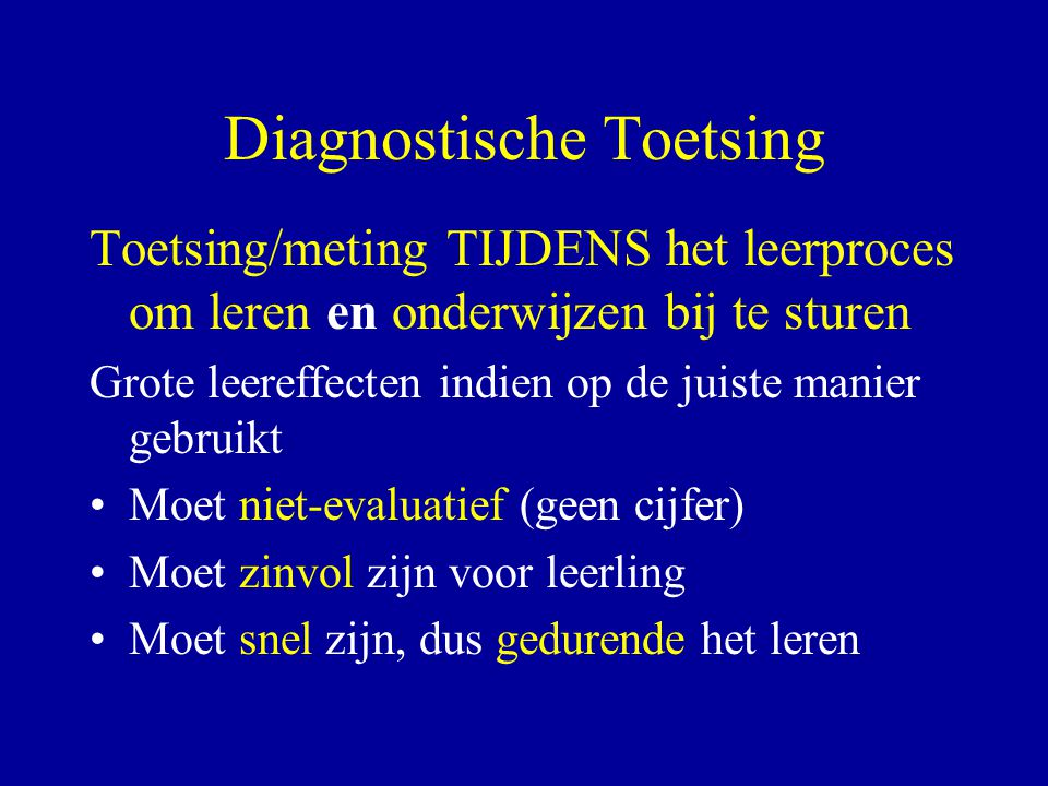 Diagnostische Toetsing