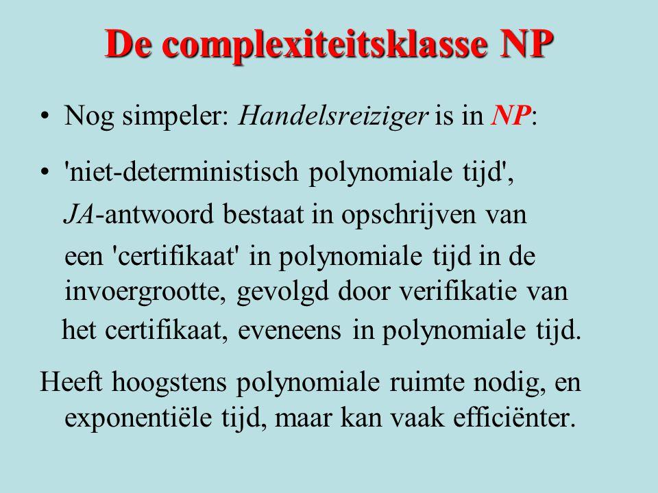 De complexiteitsklasse NP