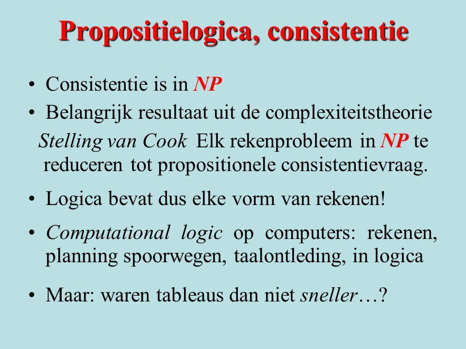 Propositielogica, consistentie