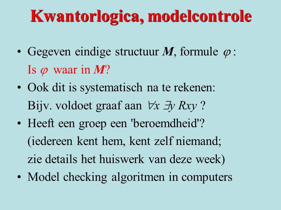 Kwantorlogica, modelcontrole