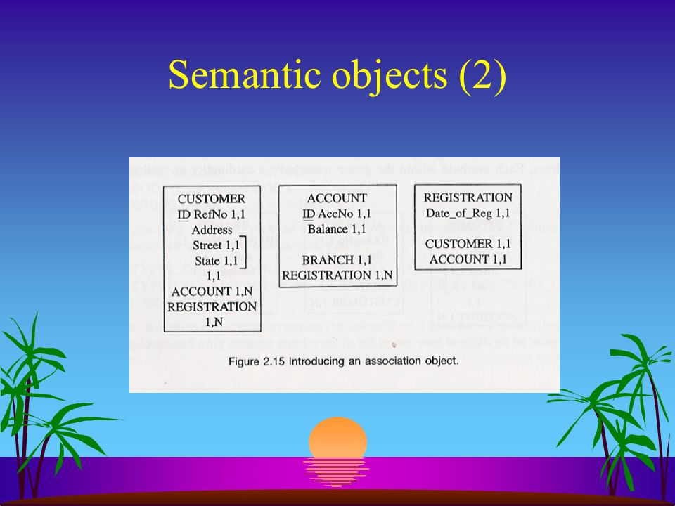 Semantic objects (2) Opmerkingen: