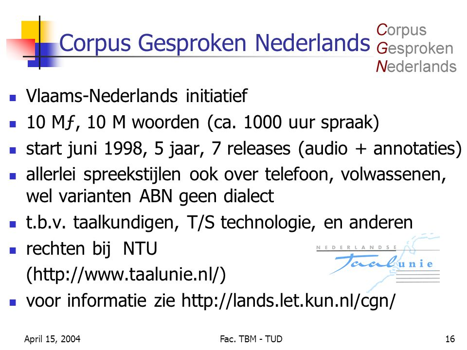Corpus Gesproken Nederlands