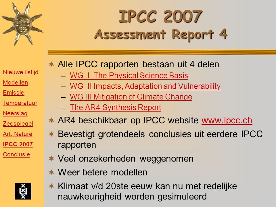 IPCC 2007 Assessment Report 4