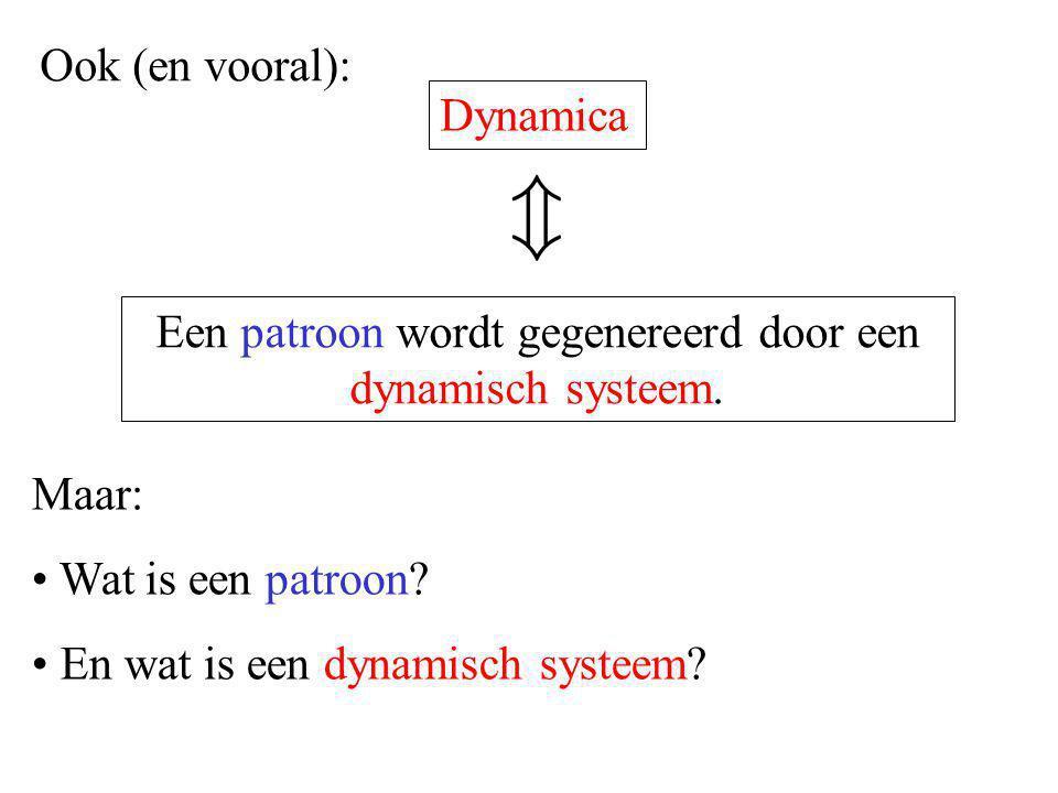 Een patroon wordt gegenereerd door een dynamisch systeem.