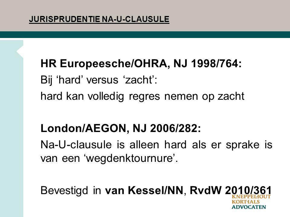 HR Europeesche/OHRA, NJ 1998/764: Bij 'hard' versus 'zacht':