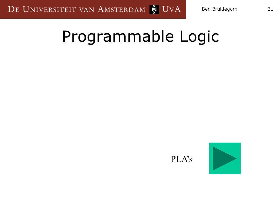 Ben Bruidegom Programmable Logic PLA's