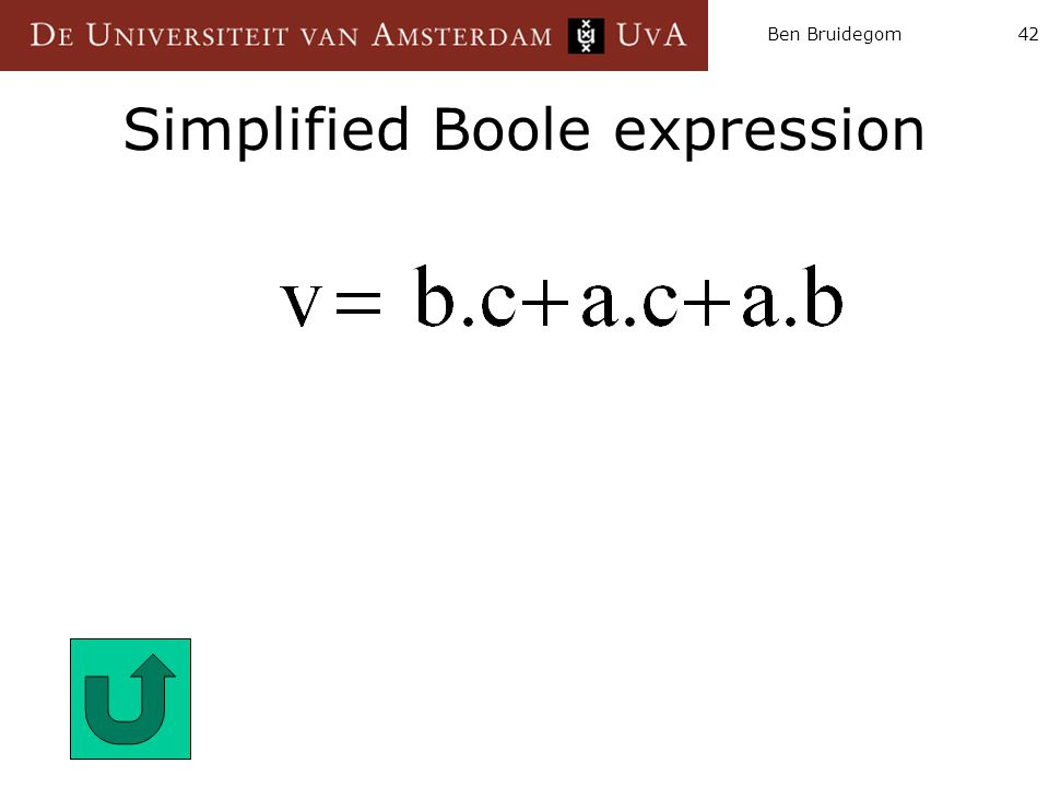 Simplified Boole expression