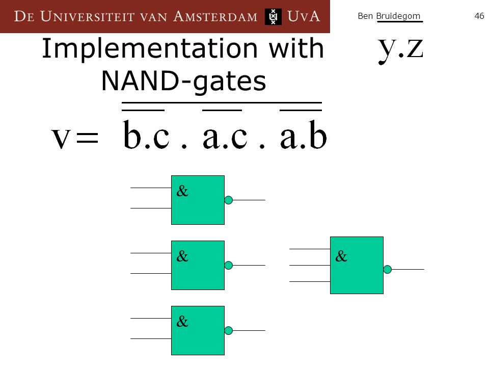 Implementation with NAND-gates