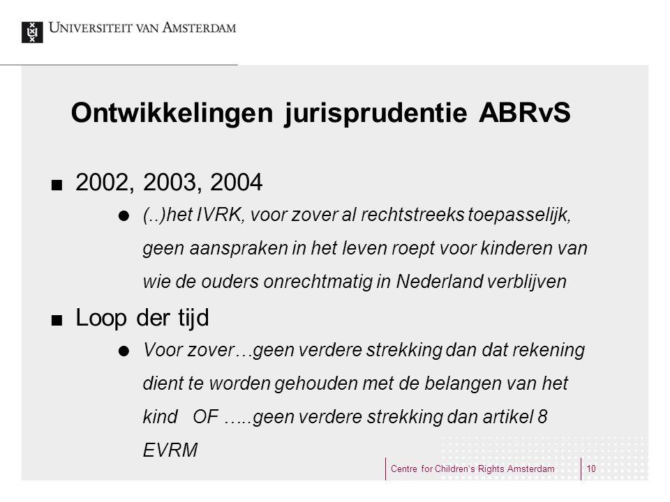 Ontwikkelingen jurisprudentie ABRvS
