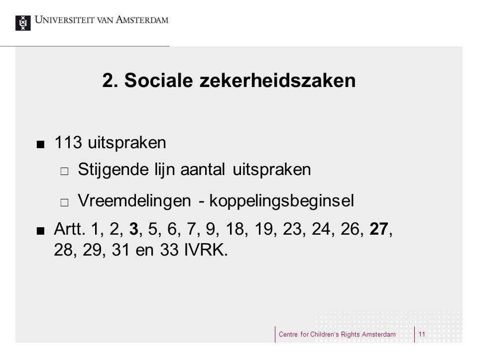 2. Sociale zekerheidszaken