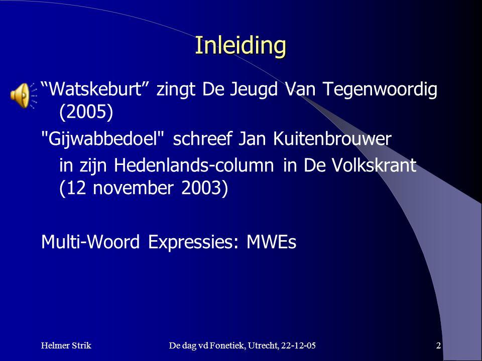 De dag vd Fonetiek, Utrecht, 22-12-05
