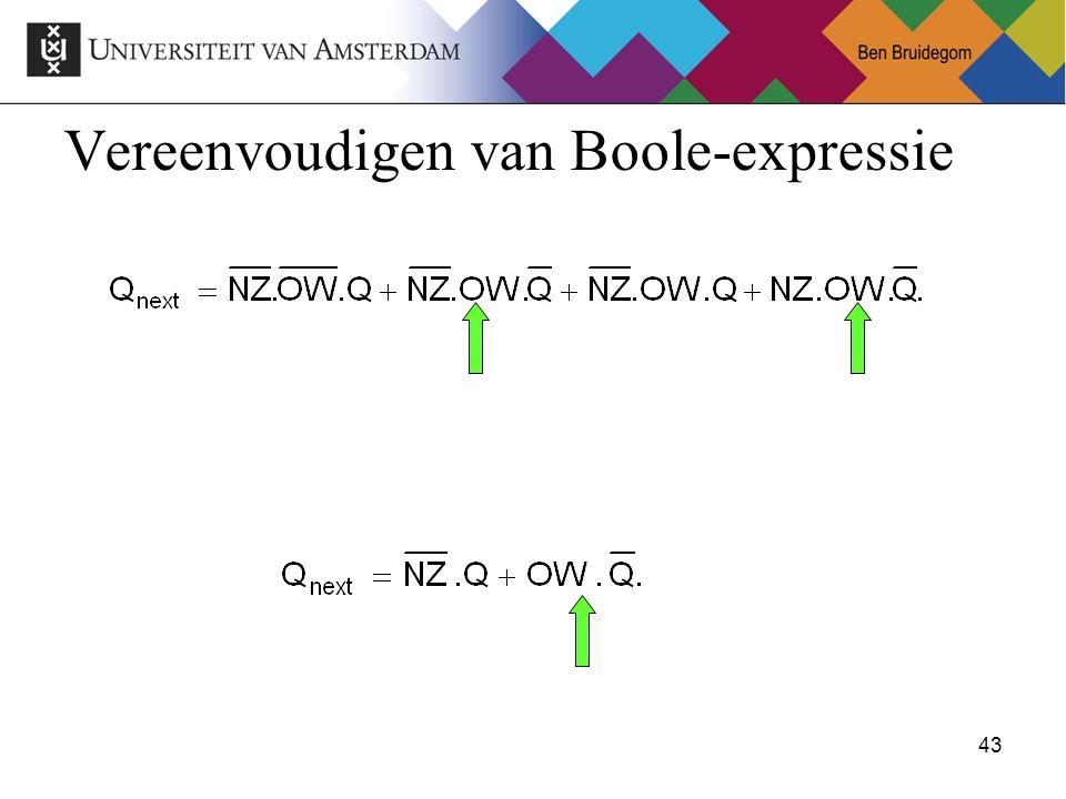 Vereenvoudigen van Boole-expressie