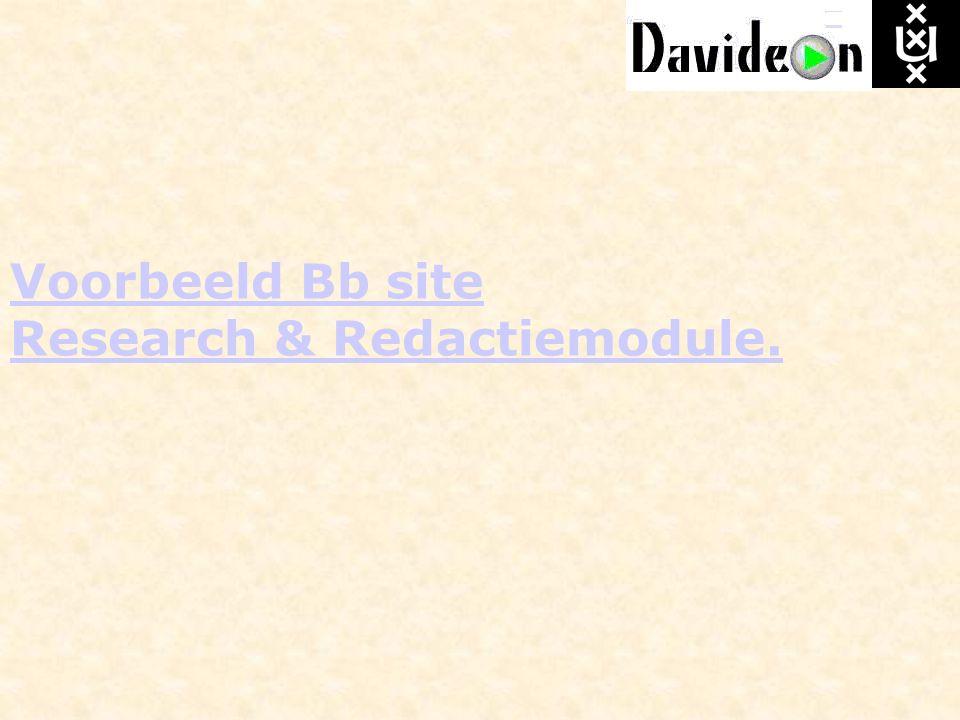 Voorbeeld Bb site Research & Redactiemodule.