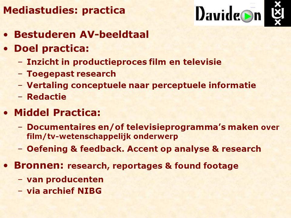 Mediastudies: practica
