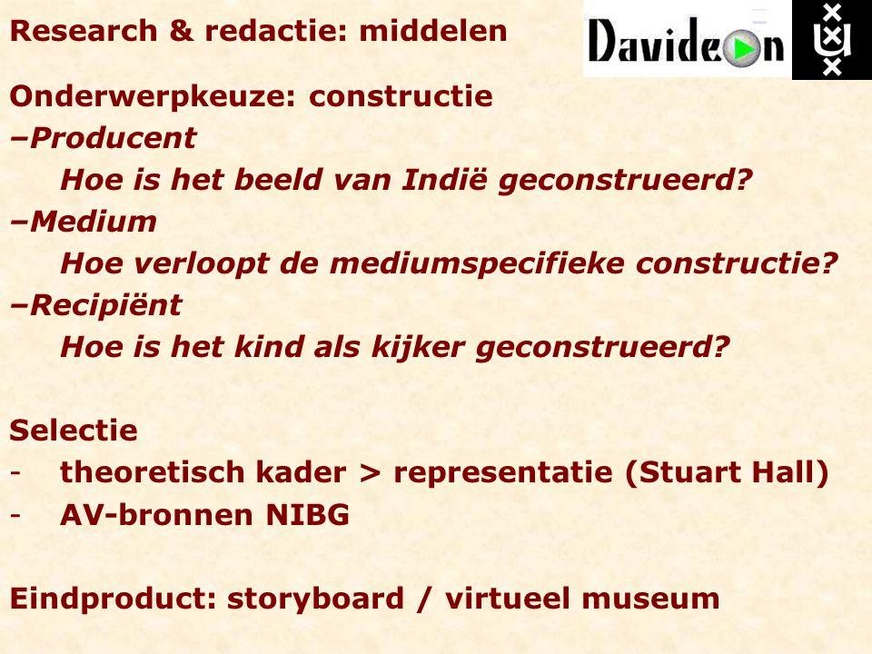 Research & redactie: middelen