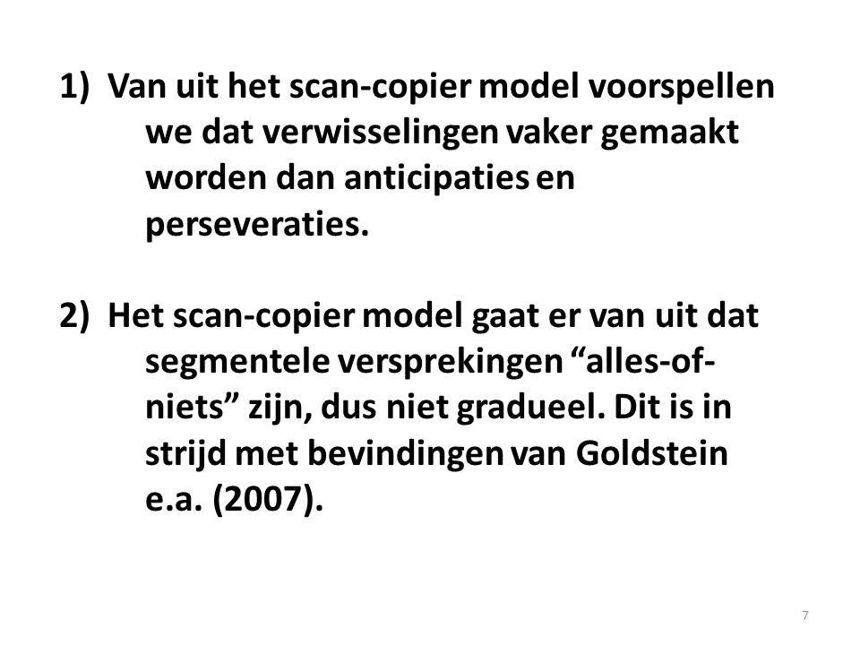 Van uit het scan-copier model voorspellen