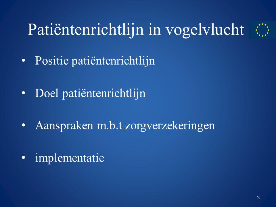 Patiëntenrichtlijn in vogelvlucht