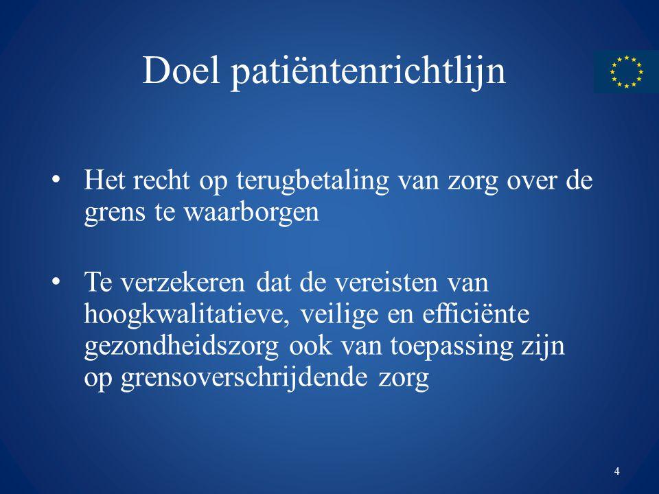 Doel patiëntenrichtlijn
