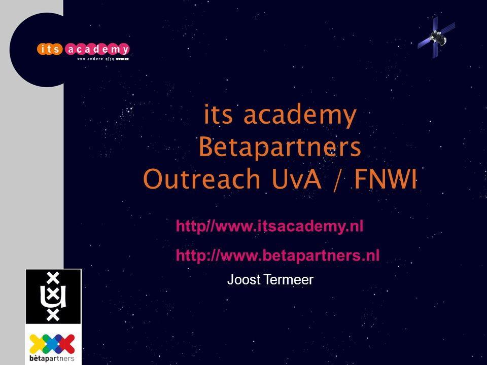 its academy Betapartners Outreach UvA / FNWI