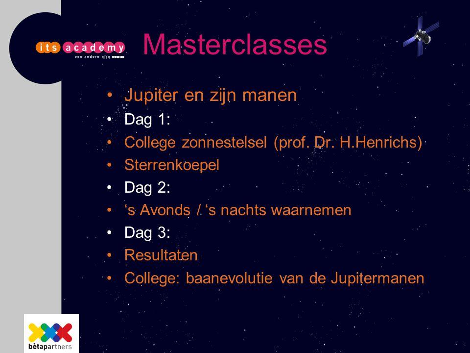Masterclasses Jupiter en zijn manen Dag 1:
