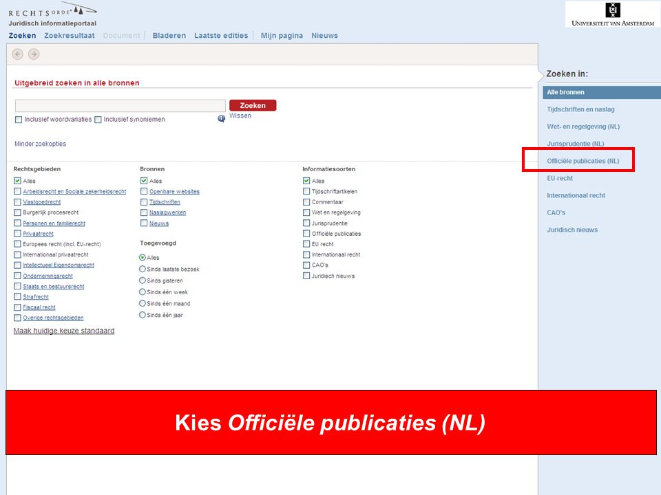 Kies Officiële publicaties (NL)