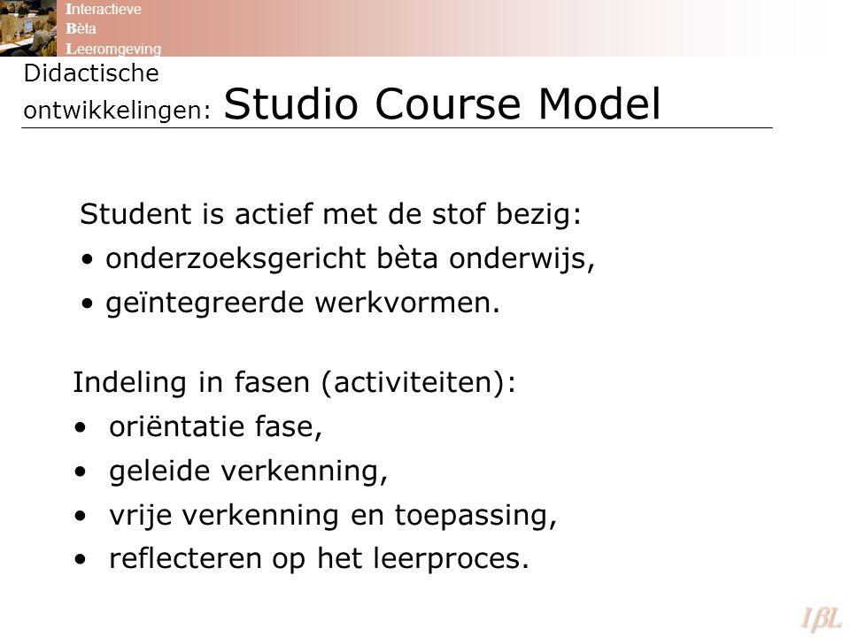 Didactische ontwikkelingen: Studio Course Model