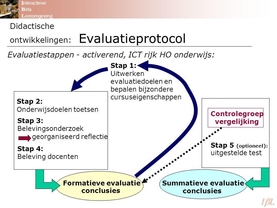 Didactische ontwikkelingen: Evaluatieprotocol