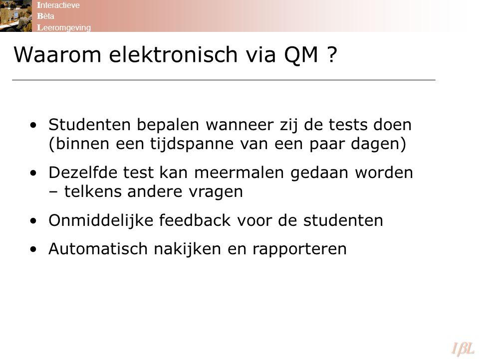 Waarom elektronisch via QM
