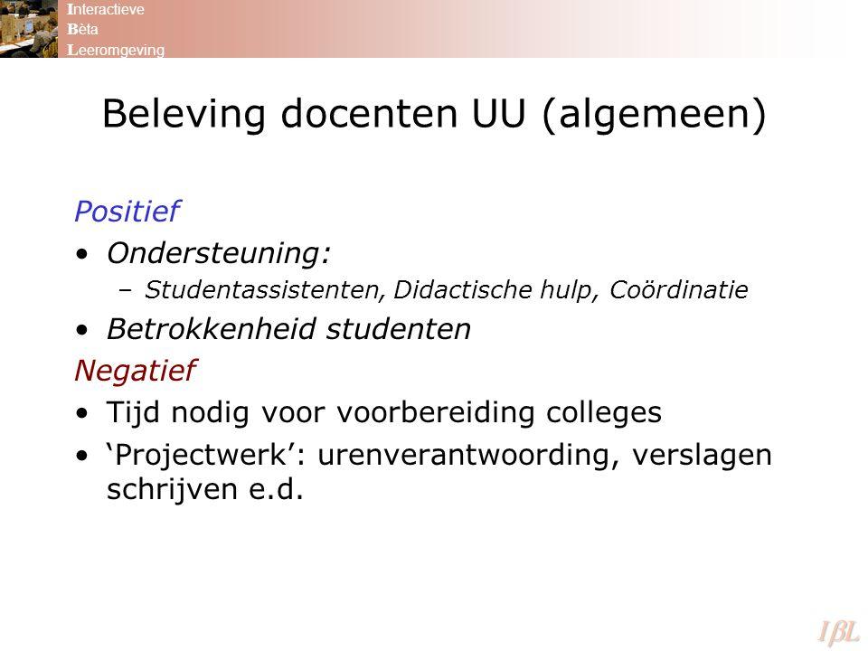 Beleving docenten UU (algemeen)