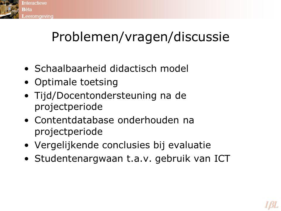 Problemen/vragen/discussie