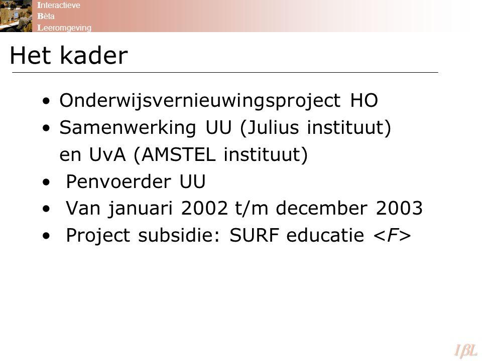 Het kader Onderwijsvernieuwingsproject HO