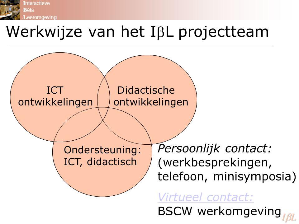 Werkwijze van het IL projectteam