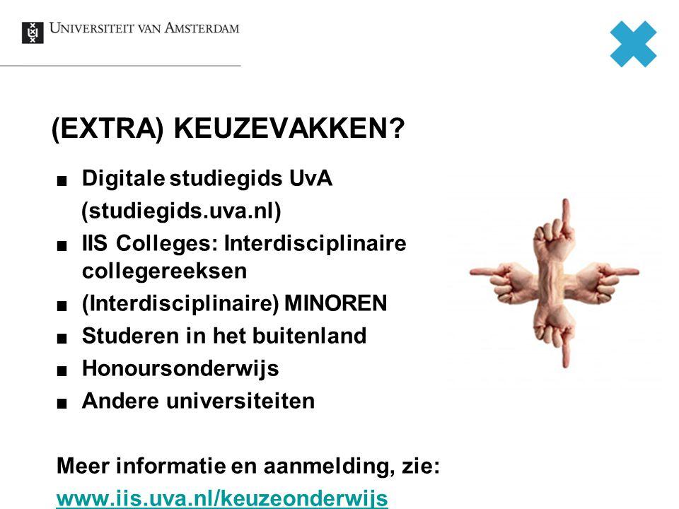 (EXTRA) KEUZEVAKKEN Digitale studiegids UvA (studiegids.uva.nl)