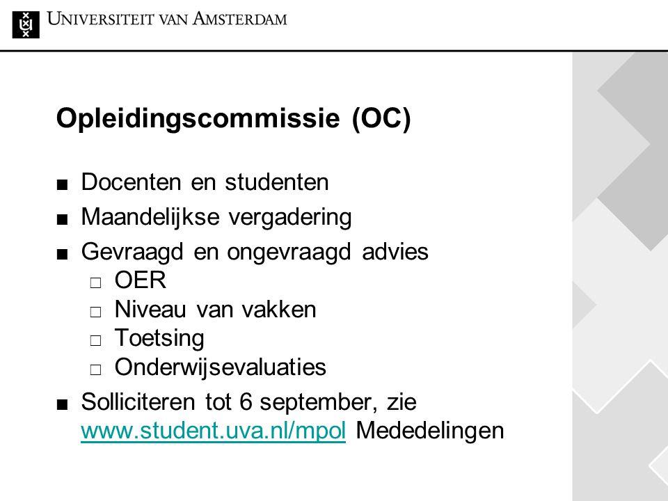 Opleidingscommissie (OC)