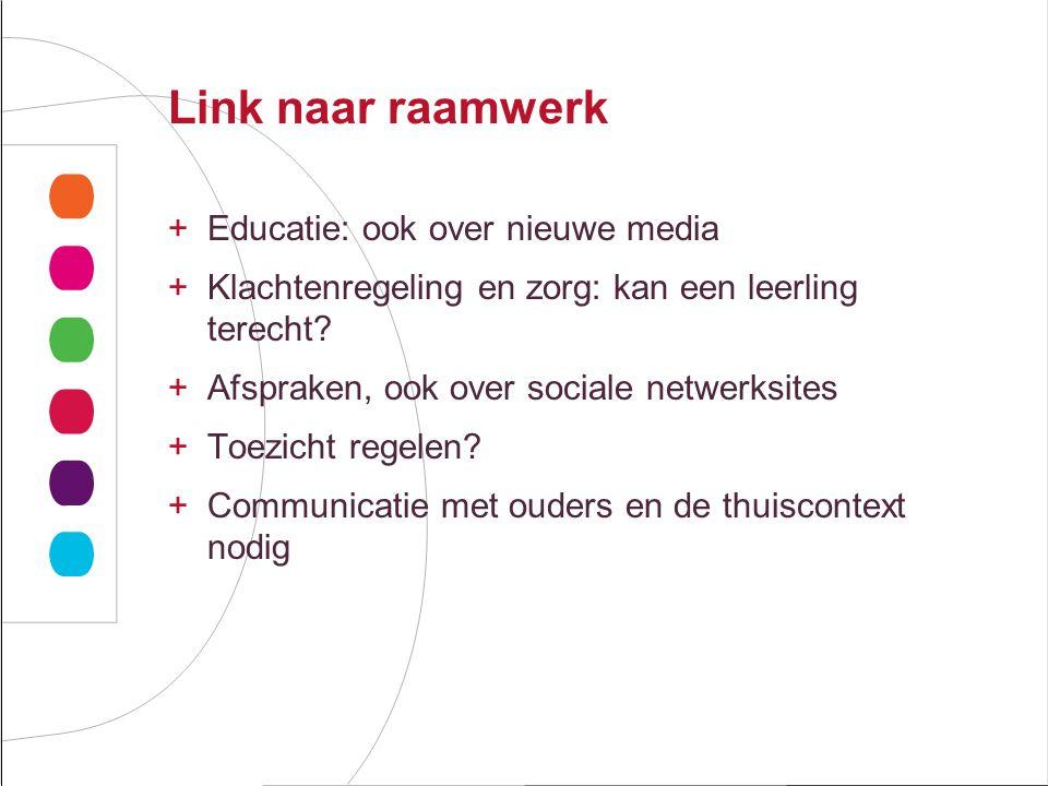 Link naar raamwerk Educatie: ook over nieuwe media