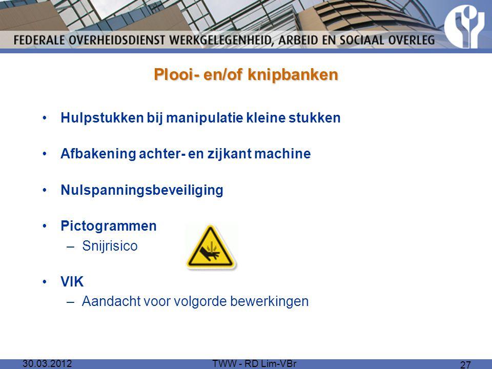 Plooi- en/of knipbanken