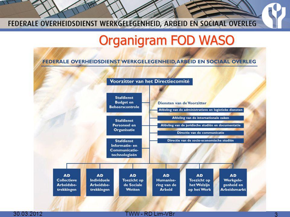 Organigram FOD WASO 30.03.2012 TWW - RD Lim-VBr