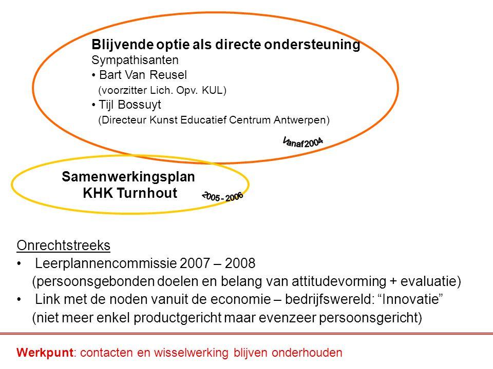 Samenwerkingsplan KHK Turnhout