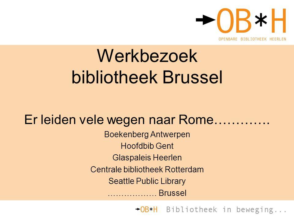 Werkbezoek bibliotheek Brussel