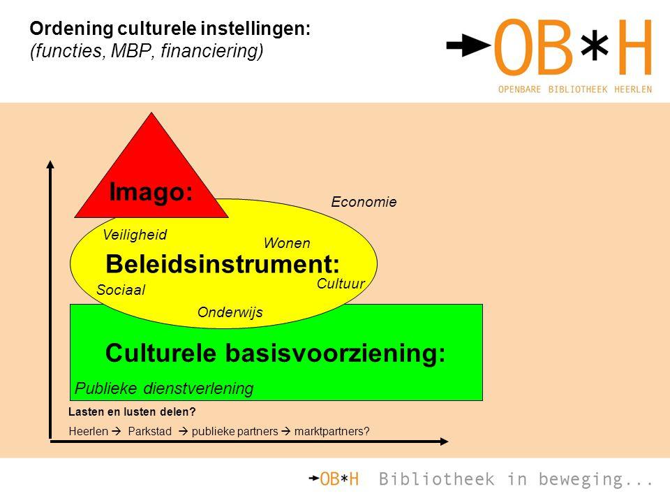 Ordening culturele instellingen: (functies, MBP, financiering)