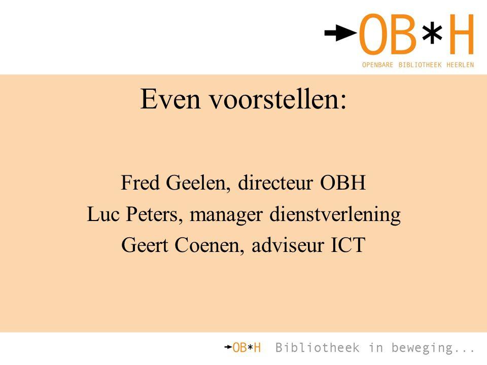 Even voorstellen: Fred Geelen, directeur OBH