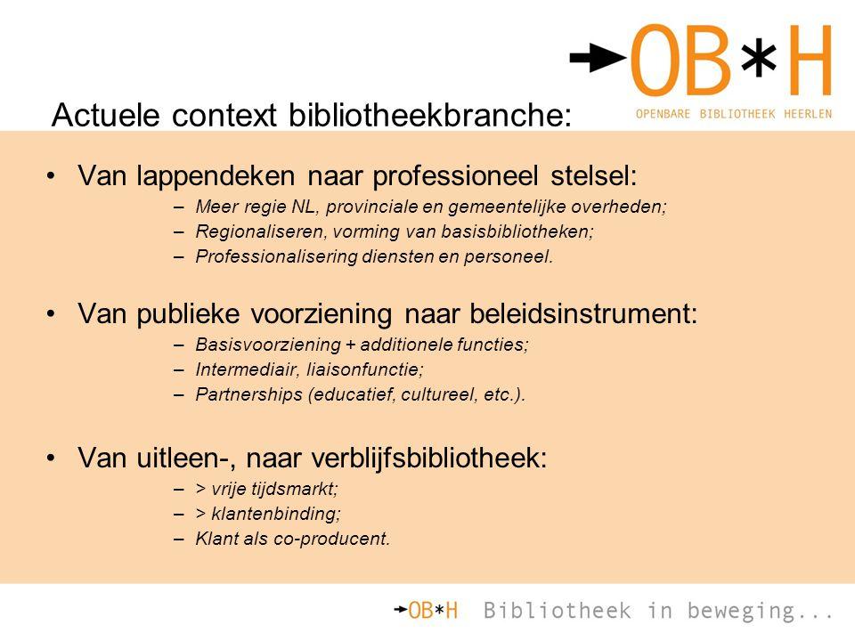 Actuele context bibliotheekbranche: