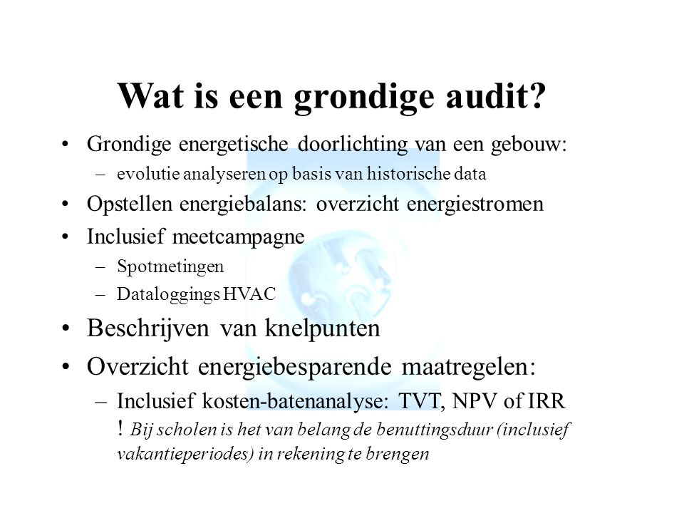 Wat is een grondige audit